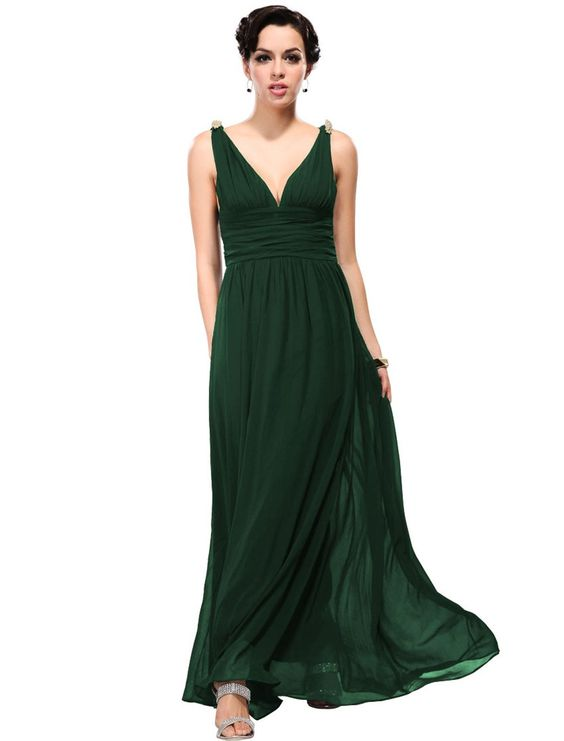 Ever Pretty Damen V-Ausschnitt Lange Chiffon Abendkleider Festkleider 09016: Amazon.de: Bekleidung