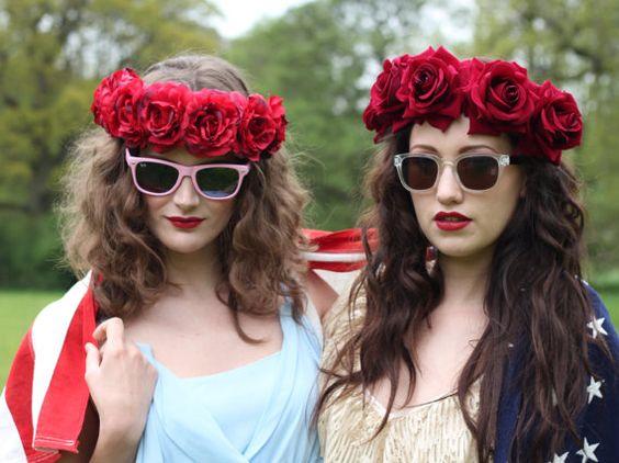Velvet deep red  flower crown, flower child headpiece, floral garland, rose hairband