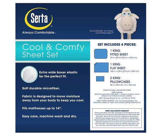 Serta Charcoal Cooling Sheet Sets Serta Perfect Sleeper Sheet