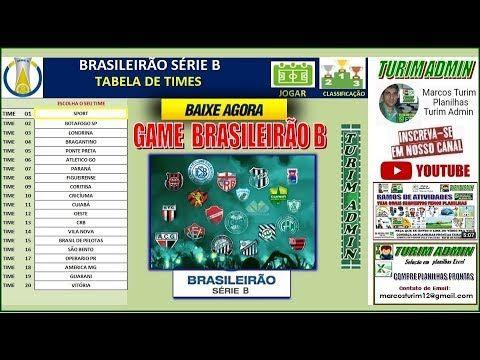 Turim Admin Planilhas Prontas Excel Baixar Jogo Simulador Brasileirao Serie B Game T Brasileirao Planilhas Turim