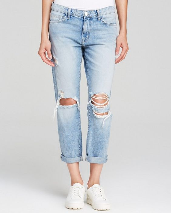 Light Wash Ripped Boyfriend Jeans - Xtellar Jeans