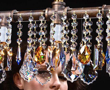 McHale bar chandelier with Swarovski crystal