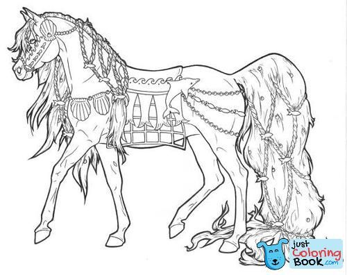 Free Printable Horse Coloring Pages For Adults Coloring Pages Intended For Woman And Mare Horse Color Horse Coloring Books Horse Coloring Horse Coloring Pages