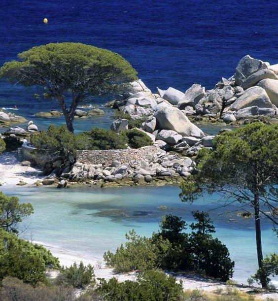 La plage de Palombaggia en Corse:
