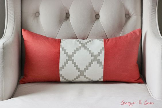 A pillow in the glider is the perfect place to tie in #nursery colors and patterns. #nurserydecor