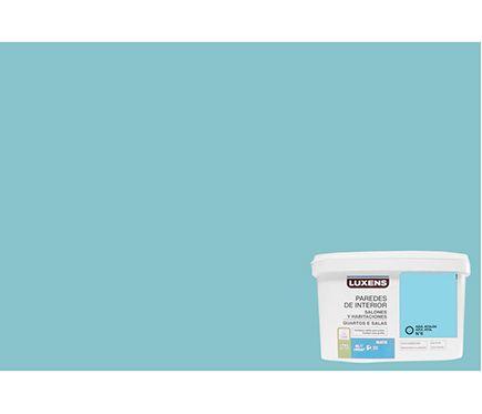 Pintura de color para paredes y techos luxens azul atol n - Pinturas paredes colores ...