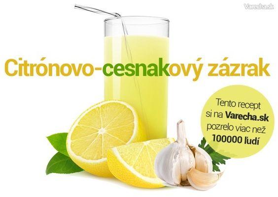 Výsledek obrázku pro česnekovo citronový zázrak