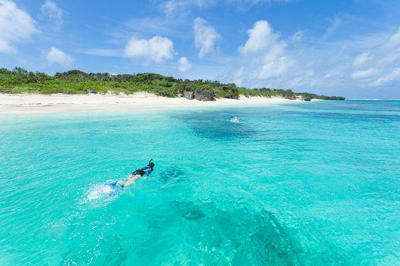 Beautiful shores at the Okinawa archipelago islands, Japan