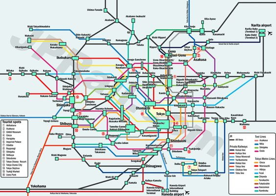 Guide to take trains in Tokyo. How to choose the best deal and the best route by train to get the major spots? | Japan Rail Pass and rail travel in Japan complete guide – JPRail.com