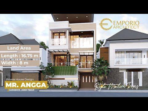 Desain Rumah Mewah Style Modern Tropis Bapak Angga Dengan Lebar 8m Dan Panjang 16 75m 3d Video Youtube Di 2020 Desain Rumah Desain Exterior Rumah Home Fashion