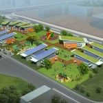 Project Frog's Modular Green Classrooms rendering