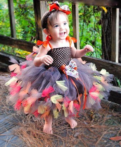 Ден на благодарността - събиране на бебе момиче Couture Tutu Dress