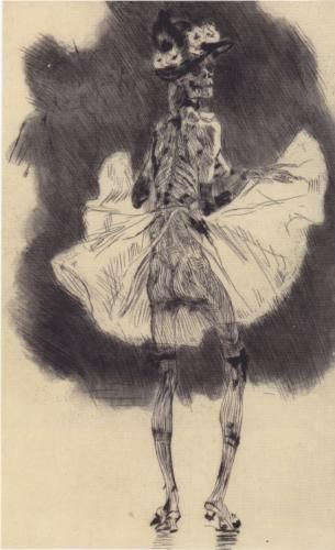 The Dance of Death - Felicien Rops: