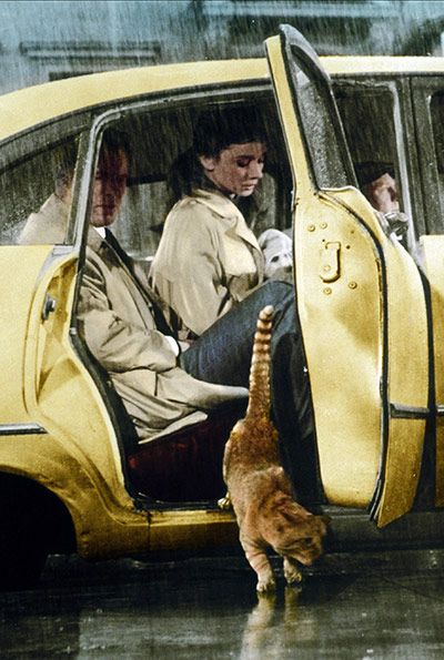 Yellow taxicabs: 1961: Audrey Hepburn in taxicab in Breakfast At Tiffany's