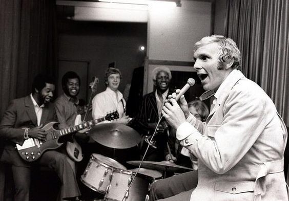 Bobby Moore with the Equals in a London recording studio 1969