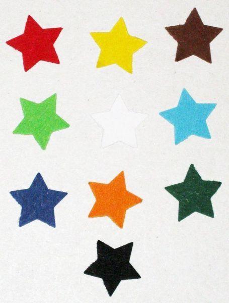 Stanzteile - 50 5-zackige Sterne - ein Designerstück von MutziflohsStoeberecke bei DaWanda