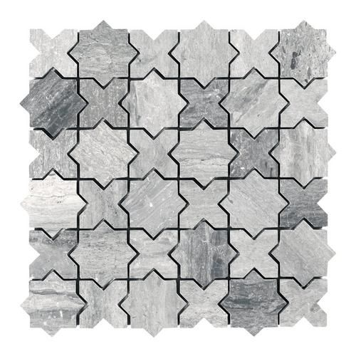 Valentino Azul Jigsaw Marble Mosaic With Images Marble Mosaic