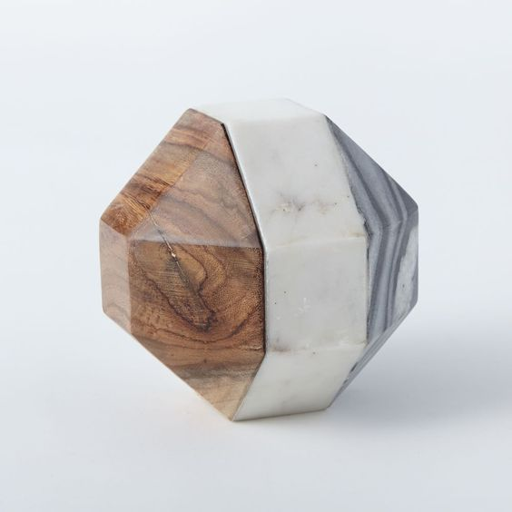 Marble & Wood Polyhedron