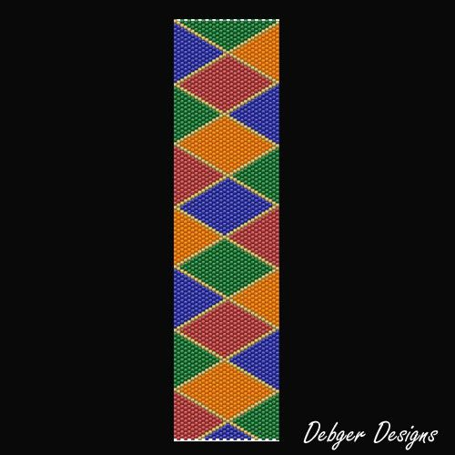 Jezebel Beaded Peyote Bracelet Cuff Pattern by FUNPATTERNDESIGNS