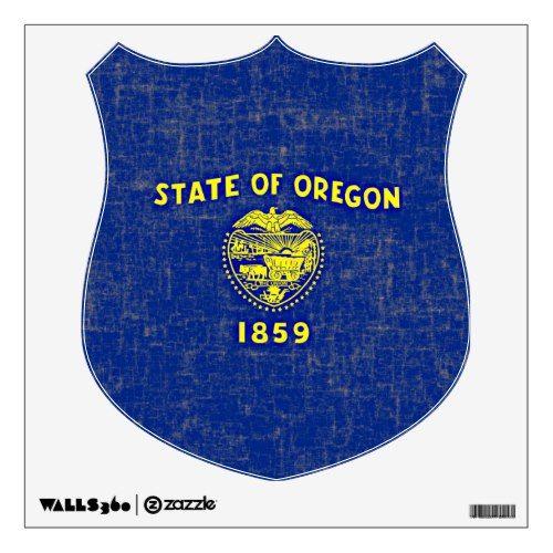 Oregon Flag Wall Sticker Zazzle Com Wall Sticker Custom Wall Decal Oregon State Flag