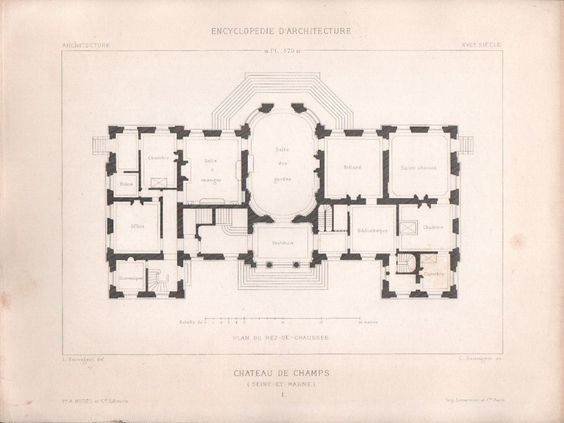Chateau De Champs Sur Marne Ground Floor Plan