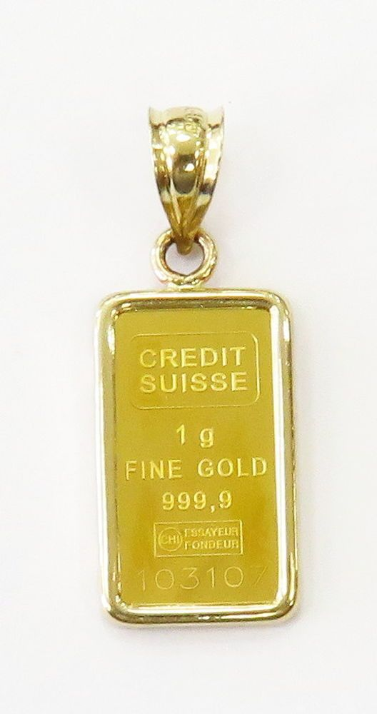 Details About 1 Gram 24k Gold Credit Suisse Statue Of Liberty Bar Necklace Charm Pendant Csf Bar Necklace Charm Pendant Perfume Bottles