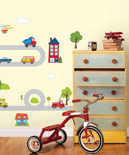 Around Town Large Wall Decal Set