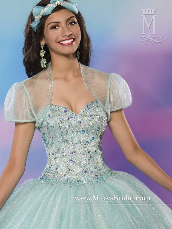 Quinceanera Coral Strapless with Bolero | LBH
