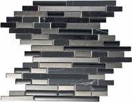 Stove Backsplsha 2: Fanfare, Mystic Glass, stainless and Stone Stick tile for Stove backsplash: F16158RANDMS1P