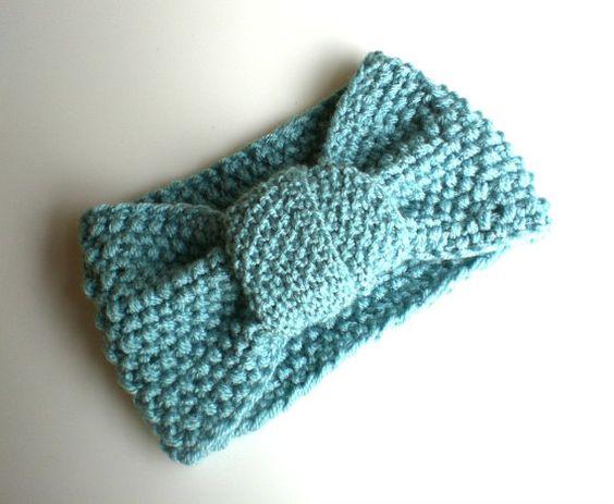 Knitted+Headband+//+Teal+Turban+Headband+//+Knit+by+KesTdesigns
