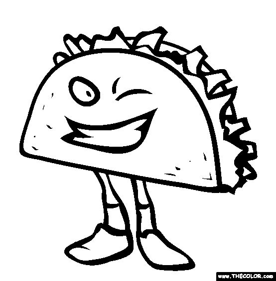 Taco Salad Stock Vectors & Vector Clip Art | Shutterstock |Taco Salad Coloring Pages