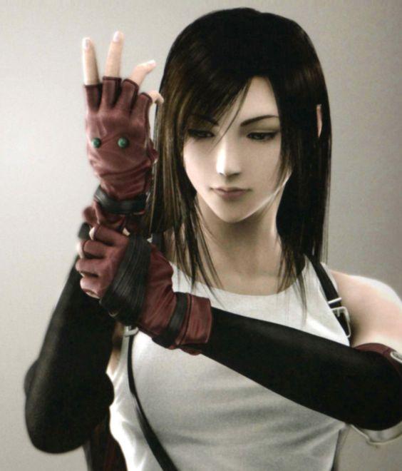 a digital rendering of Tifa Lockhart, Final Fantasy 7 character