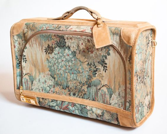 Vintage French Luggage Company California Paradise Tapestry and ...