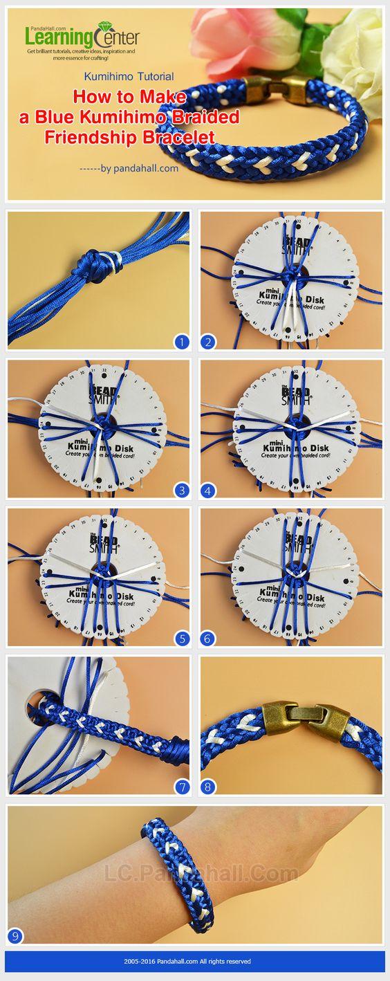 Kumihimo Tutorial How To Make A Blue Kumihimo Braided