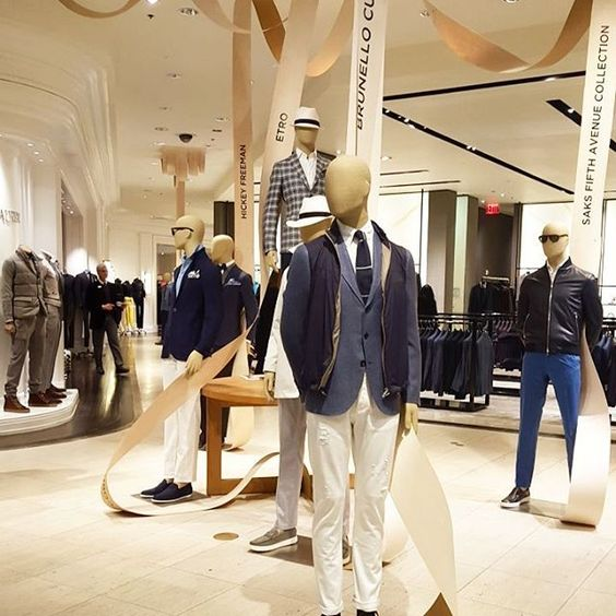 "SAKS FIFTH AVENUE, New York, ""We start each collection thinking how we can refresh the classics"", pinned by Ton van der Veer"