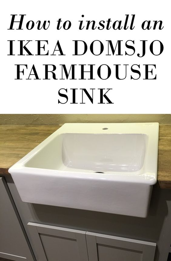 Domsjo Sink Non Ikea Cabinet ~ How to mount an Ikea Domsjo farmhouse sink onto non Ikea cabinets!