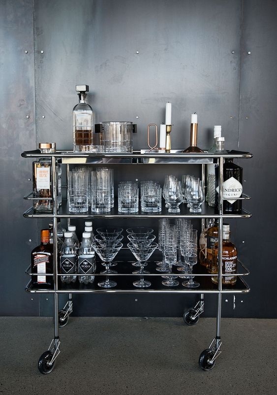 Nice glasses...love the faces & pattern! stacked cart. Need This! @Matt cosgrove
