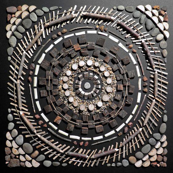 MATT MOORE – MANDALAS IN UTAH #MattMoore #Art #Mandalas #naturalmaterials #utah