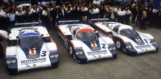 1982: like were the racing numbers, were their results (3. #3 956-004, 2. #2 956-003, 1. #1 956-002, all Turbo 2.6) - Stuttcars.com