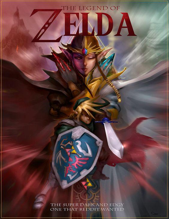 The Legend of Zelda, super edgy and darkby *DarrenGeers deviantART #Art #Gaming #Zelda