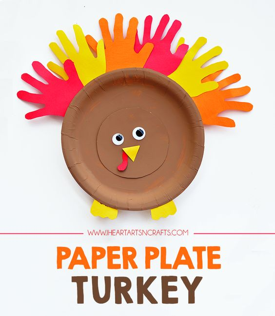 Paper Plate Turkey Kids Craft - I Heart Arts n Crafts