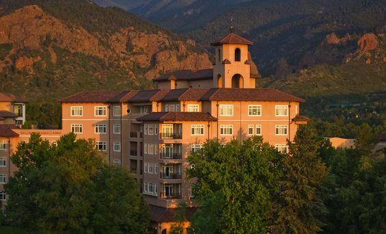 The Broadmoor resort hotel in Colorado Springs built in 1918.
