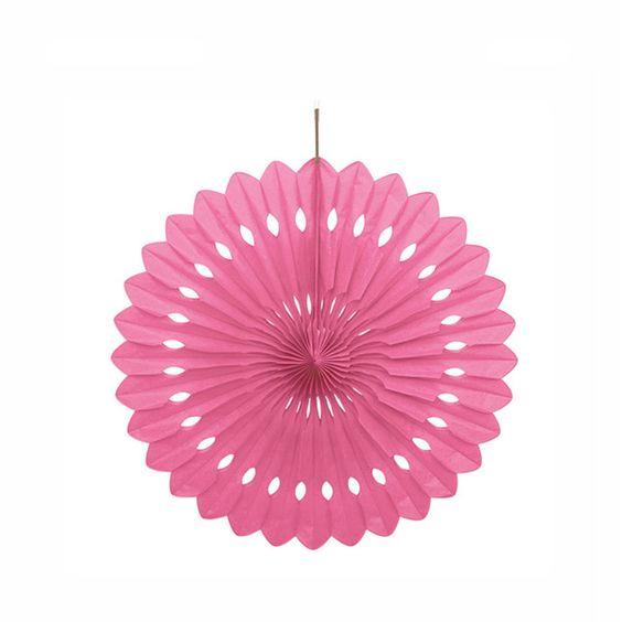 Un precioso abanico de papel para decorar fiestas de www - Abanicos para decorar ...