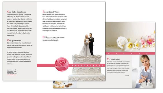 wedding cake brochure http www pageblank templateimages catering bakery 22103