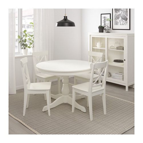 Ingatorp Extendable Table White 43 1 4 61 Small Kitchen Tables Dining Room Small Ikea Dinning Table