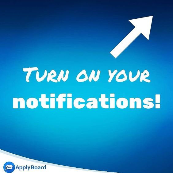 Don't forgot to turn on your notifications! Instagram is changing. If you want to make sure that you see all of ApplyBoard's post hit the  button in the top right corner and click 'turn on post notifications'. Now you will be notified every time ApplyBoard posts something!   #ApplyBoard #StudyintheUSA #studyincanada #studyabroad #internationalstudent by applyboard.farsi