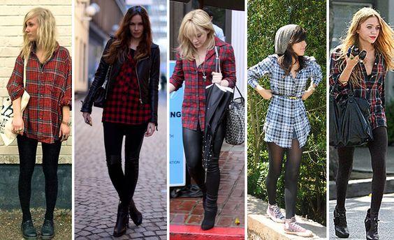 Camisa xadrez feminina e seu retorno na moda