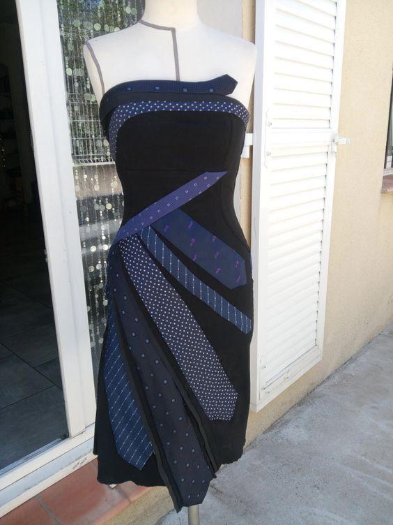 robe cravates de la boutique lescravatesenfolie sur Etsy