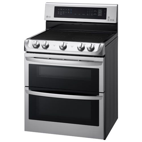 Lg 30 7 3 Cu Ft Double Oven Freestanding Smooth Top Electric