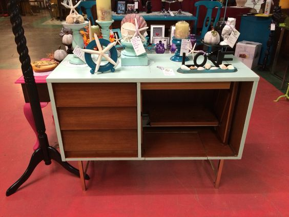 Mid century sewing cabinet with updated appearance ...